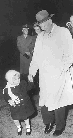 Mary with her grandfather, President Dwight D. Eisenhower.